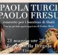 Martedì 21 maggio al Teatro della Pergola, Firenze. A tre anni dal devastante terremoto, Comune di Firenze e Fondazione Francesca Rava promuovono un evento a sostegno dell'ospedale pediatrico Saint Damien.